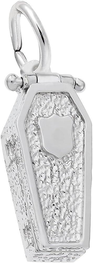 925 Sterling Silver Sparkle-Cut Matte satin Open Style Horseshoe Charm