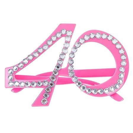 SuxiDi - Gafas de Fiesta de 40 cumpleaños, Accesorios para ...