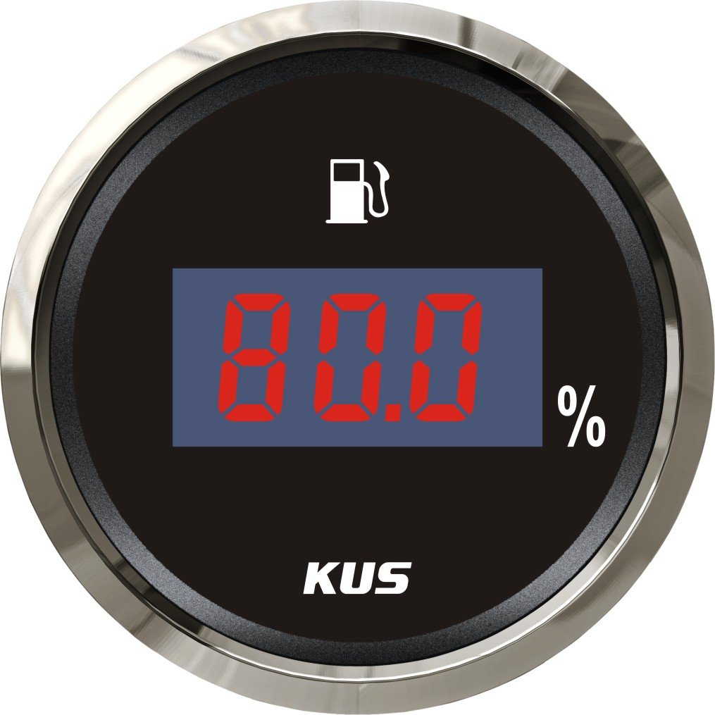 Kus Digital Fuel Level Meter Gauge 240– 33OHM Signal schwarz Frontplatte, 5,1  cm (52  mm) SPR