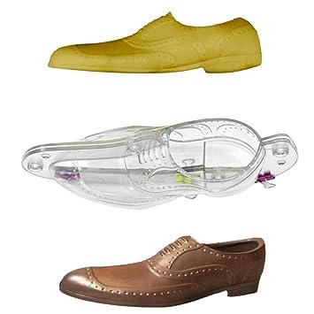 SamLIKE 3D Zapatos de hombre para molde de tartas, decoración de chocolate plástico moldes de pasteles Moldes para decoración de tartas transparente: ...
