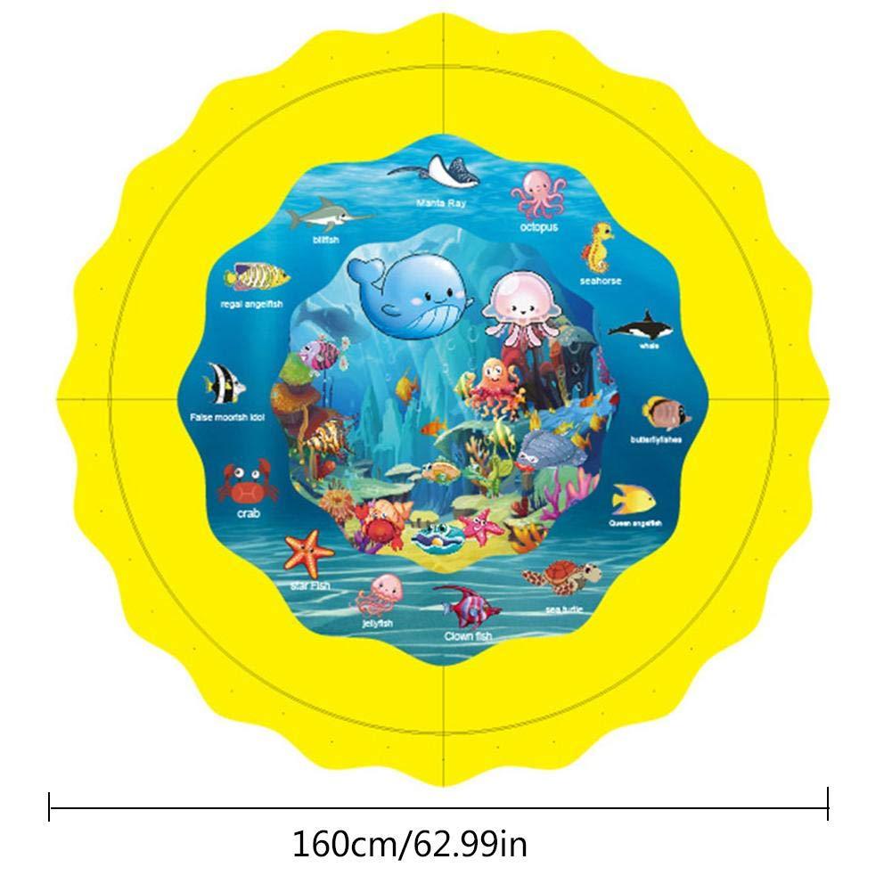 Planschbecken F/ür Kinder Wasserspr/ühmatte Aufblasbar Mit Verschiedene Muster Der Unterwasserwelt Perfekt Zum Entspannen Feiern Am Pool Oder Am Strand F/ür Kinder