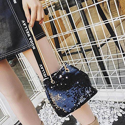 La Sac Crossbody Sequin Cabina Shining bandoulière Noir pour à épaule Messenger Crossbody Femmes Mini Porté Fille Sac Chaîne rrFSwqx4n