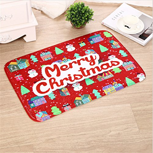 CH Christmas Santa Claus Snowman Doormat Rectangle Floor Mat 23' x 15'' for Children's Room Living Room Bathroom Kitchen (Color 11) 15' Toilet