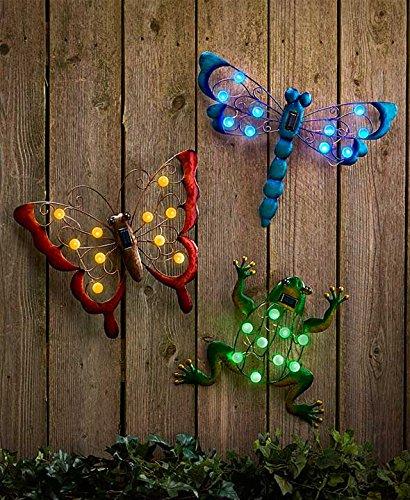 Eye Catching Solar Garden Wall Hangings (Butterfly)