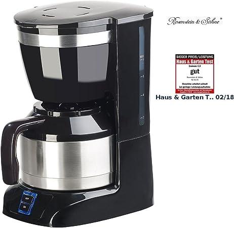Rosenstein /& Söhne Machine à café filtre 8 tasses avec pichet isotherme