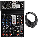 Peavey PV 6BT PV6BT Mixer, 2 Mic In, Bluetooth/USB/Compressor/Effects+Headphones
