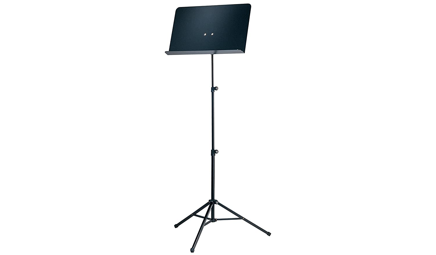 K& M Stands 10068-Black Orchestra Music Stand with Black Finish-H: 555/1190mm 10068-000-55