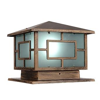 homestia premium bronze aluminum glass outdoor post cap light 9 85