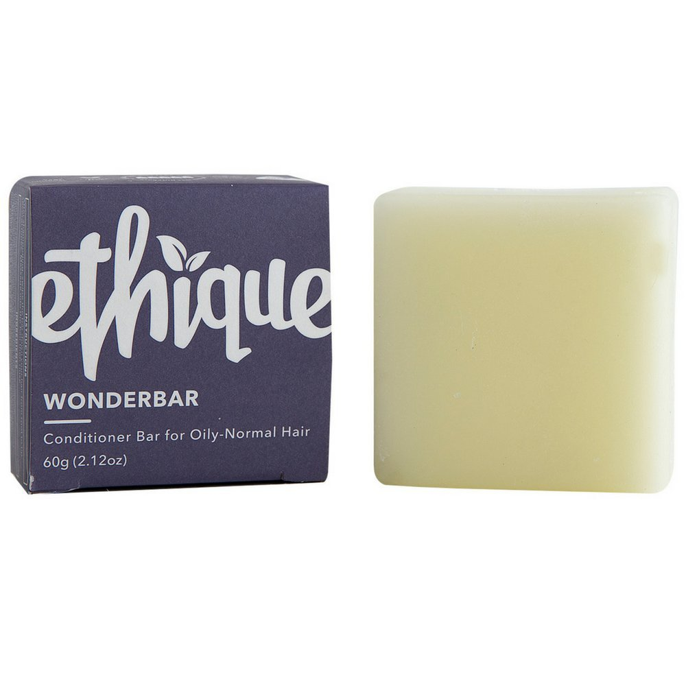 Ethique Eco-Friendly Conditioner Bar for Oily-Normal Hair, Wonderbar 2.12 oz