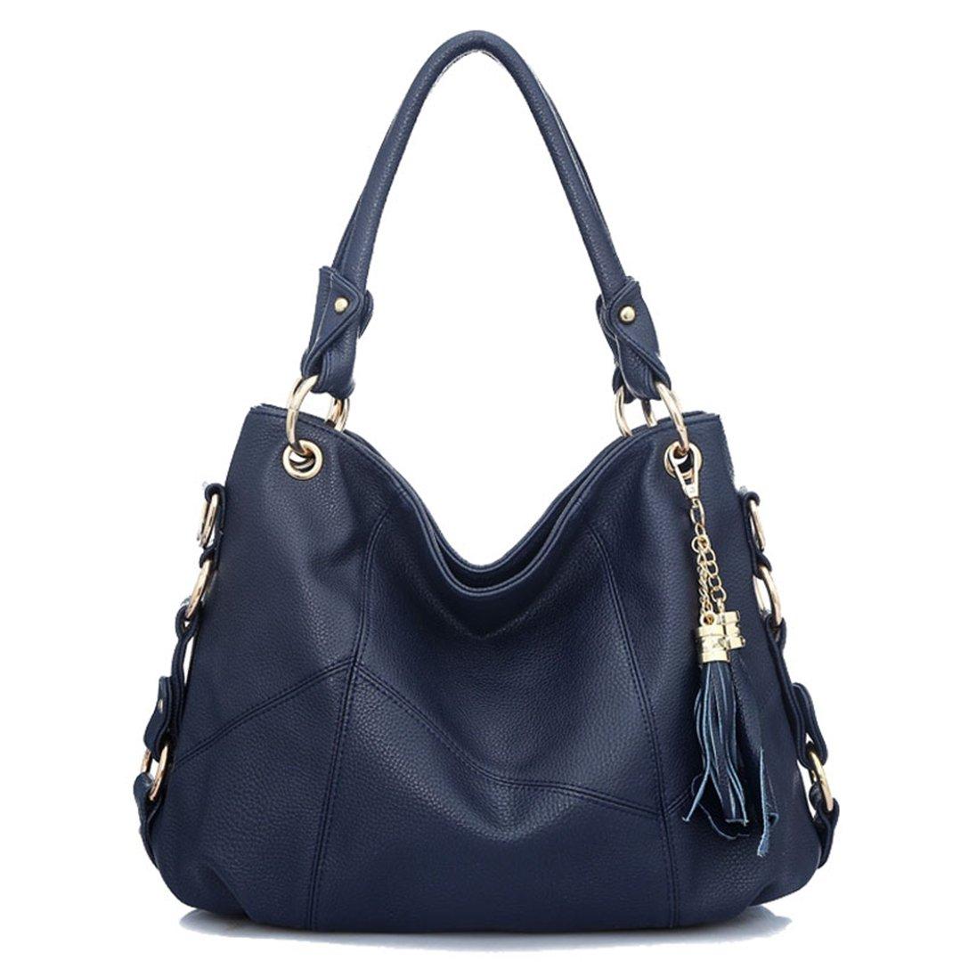 Hkiss Fringe Bags Shoulder Diagonal Portable PU Leather Dinner Dating Shopping Dumpling Type