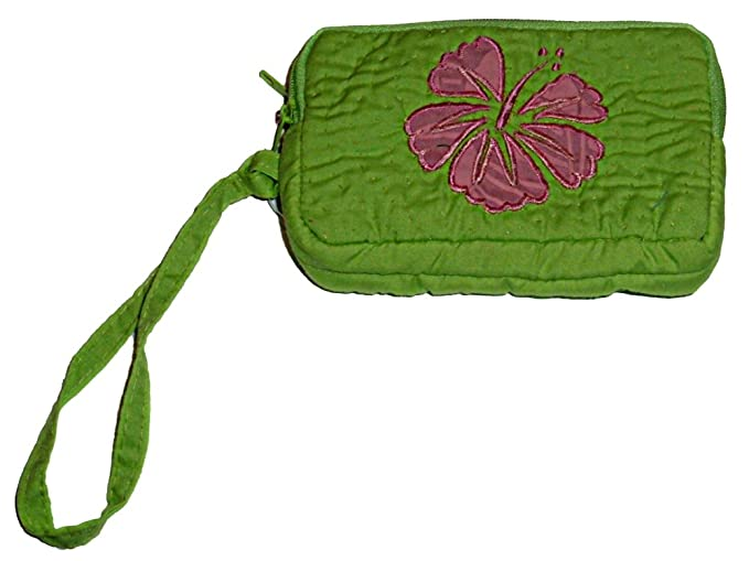 Hawaiian quilted hibiscus wallet lime green at amazon womens