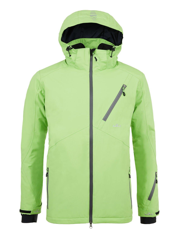 Jeff Green, Herren Atmungsaktive Wasserdichte Winter Ski Jacke, Helsinki 12.000mm Wassersäule und Abnehmbare Kapuze