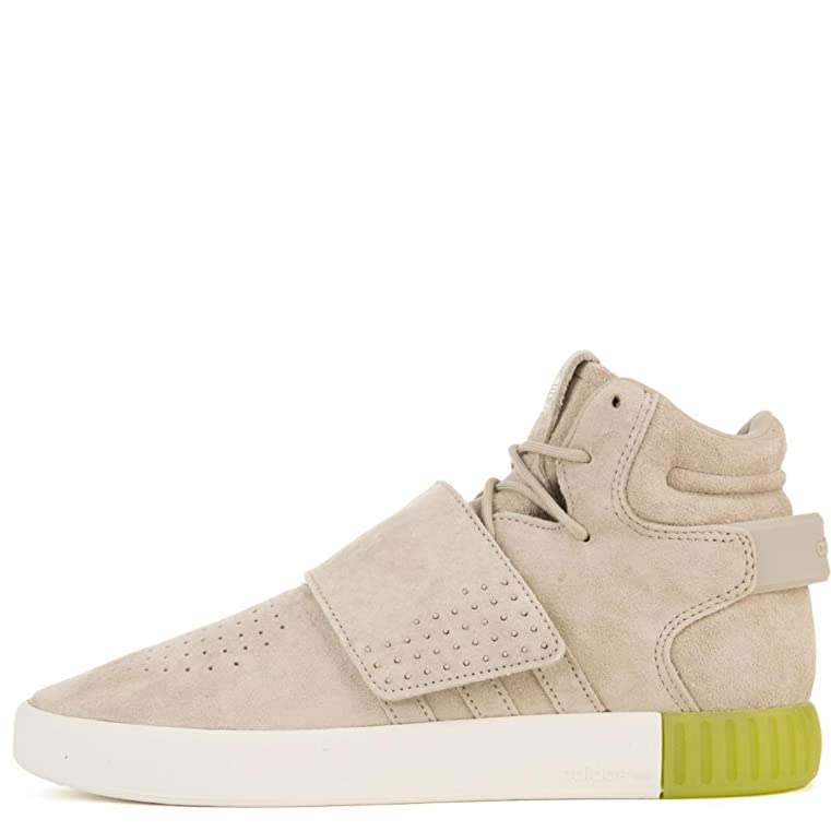 Amazon.com | adidas for Men: Tubular Invader Sesame/Sesame/Semi Solar Slime  Strap Sneakers | Running