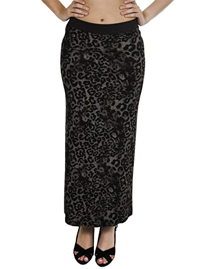 02d5a339ed0f38 Love My Fashions Women's Leopard Print Full Length Pencil Bodycon Maxi Skirt  Small Black at Amazon Women's Clothing store: