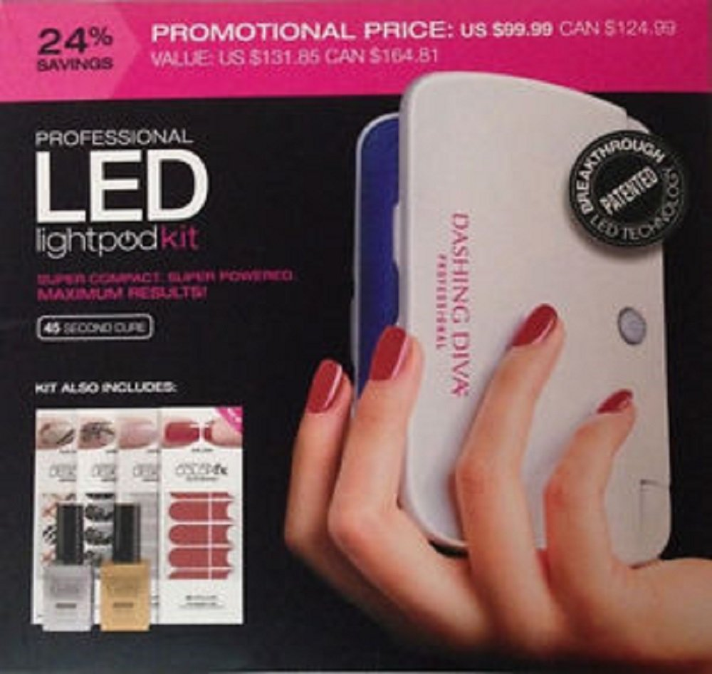 Amazon.com : Dashing Diva Professional Led Light Pod Kit 45 Second ...