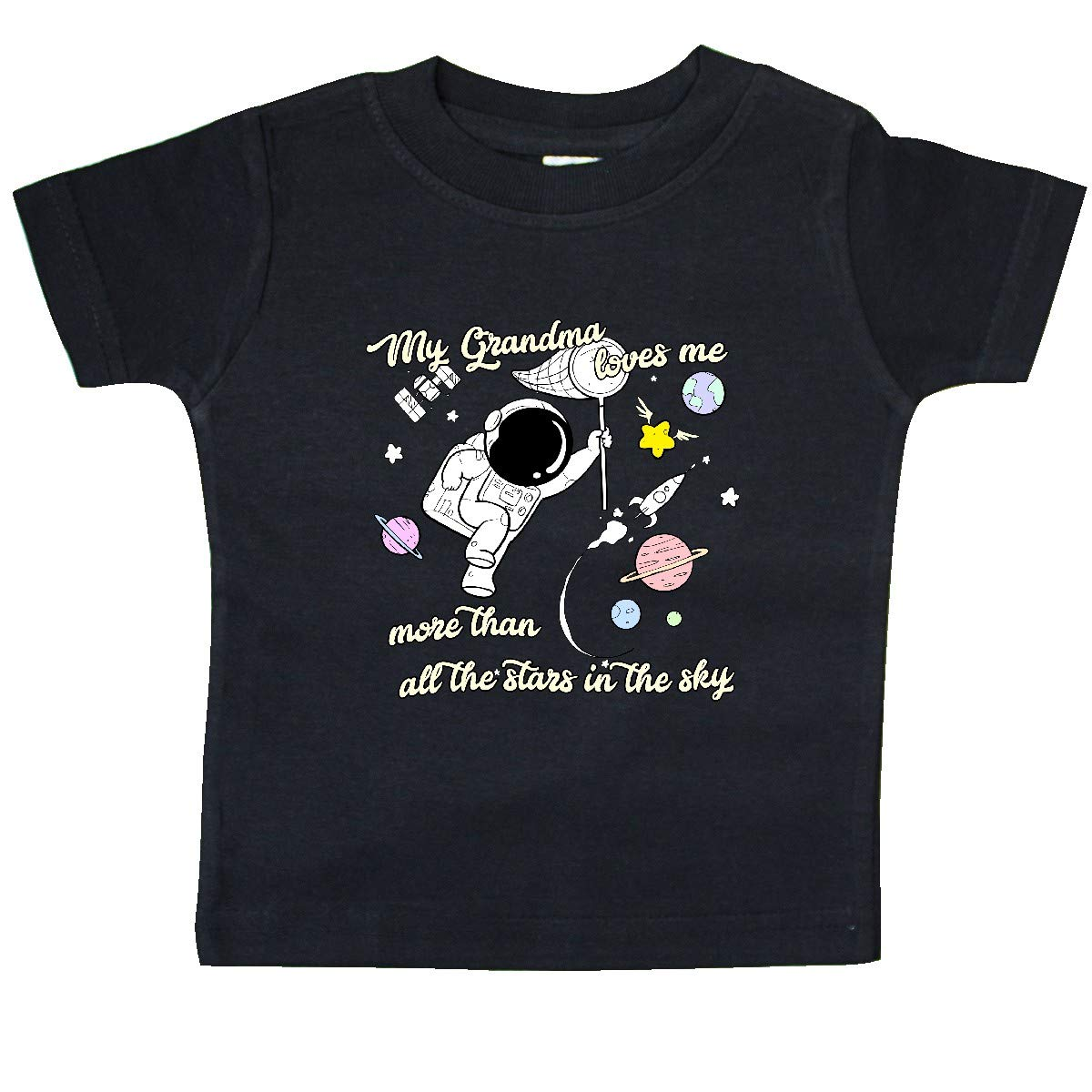inktastic My Grandma Loves Me Baby T-Shirt