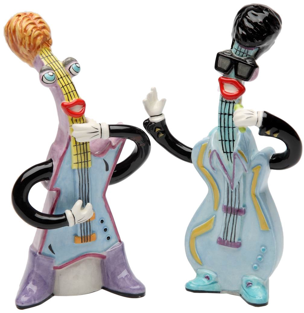 5-Inch Appletree Design Greatest Electric Guitar Salt and Pepper Set 5-Inch Appletree Design inc SS-ATD-62230