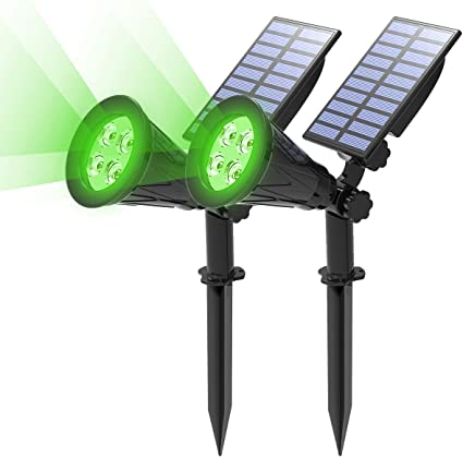 LED Solar Light Spotlight Outdoor Waterproof Garden Yard Lawn Landscape Lamp UK