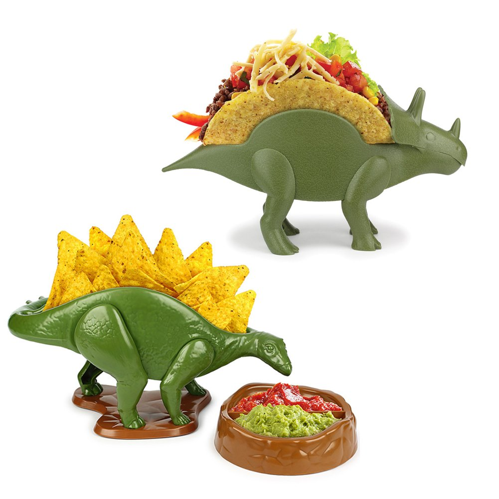 (Set) Tricerataco Holders & Nachosaurus w/Dip Bowl - Makes Appetite Extinct