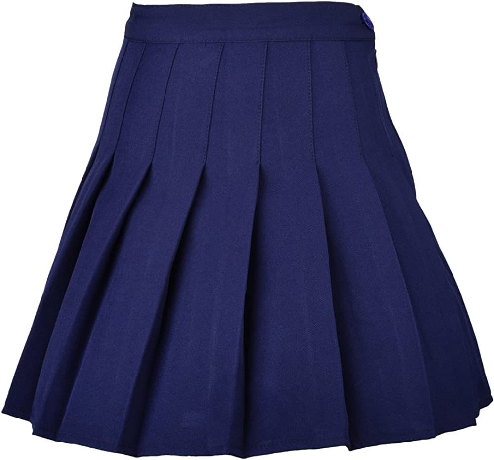 Smilice Women High-Waisted Pleated Mini Skirts with Soft Shorts Underneath