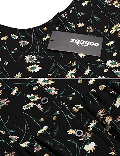 Robe Zeagoo Sans Noir Femme Manche Fp74dq