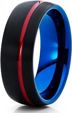 Black Tungsten Ring,Black Wedding Band,Tungsten Carbide Ring,Anniversary Ring,Engagement Ring,Men /& Women,Black Tungsten Ring,Brush Ring