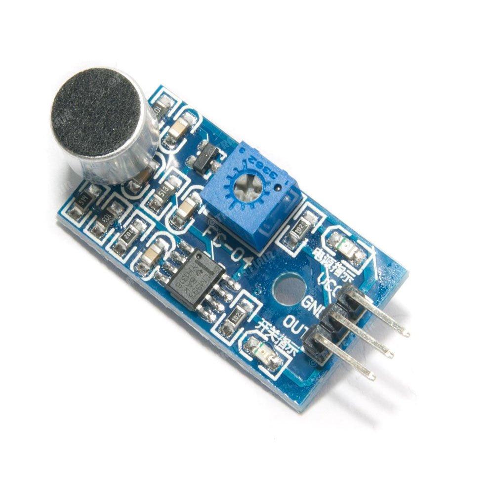 Icstation Lm393 Sound Sensor Voice Detection Module Adjustable For Recognition Electronic Circuit Sensortivity Arduino Intelligent Vehicle Industrial Scientific