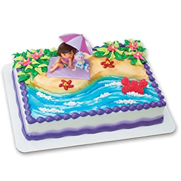 Amazoncom Dora the Explorer Beach Fun DecoSet Cake Decoration