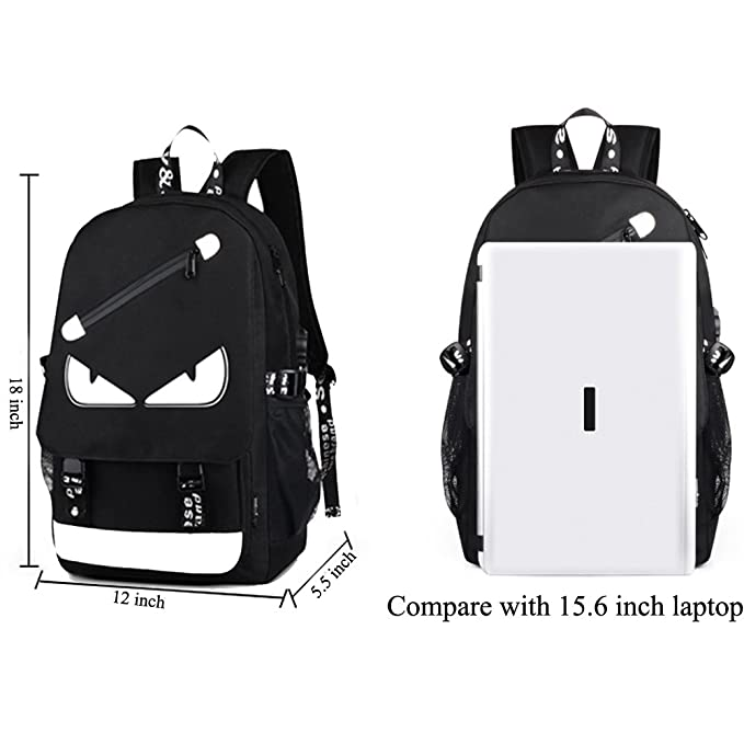 Amazon.com: A-MORE Anime Mochila luminosa Noctilucent School ...