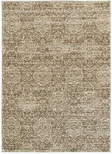 LR Resources SOFTS81162BEC80A0 Soft-Shag Area Rug LR81162-BEC80A0 Dark Beige/ Cream Rectangle 8 x Ft Indoor, 8' x 10' , Dark Beige/Cream (Beige Rug Rectangle Dark)