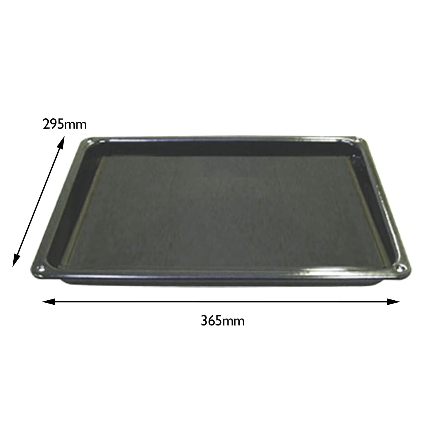 SPARES2GO Grill Pan Tray for Logik Oven Cookers (365 x 295 mm)