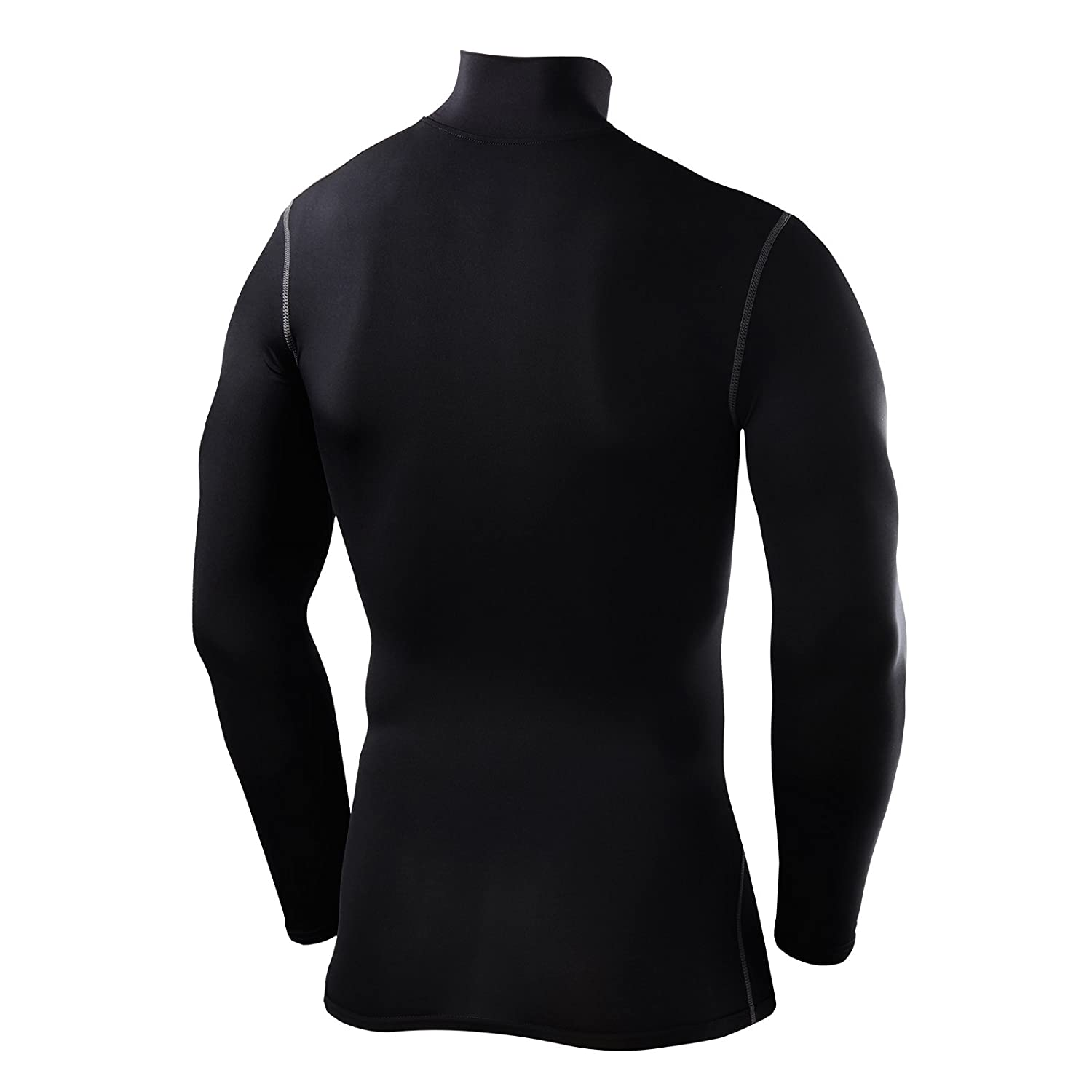 f01835af4c8 Amazon.com  PowerLayer Men s   Boy s Compression Base Layer Top Long Sleeve  Thermal Underlayer - Mock Neck  Sports   Outdoors