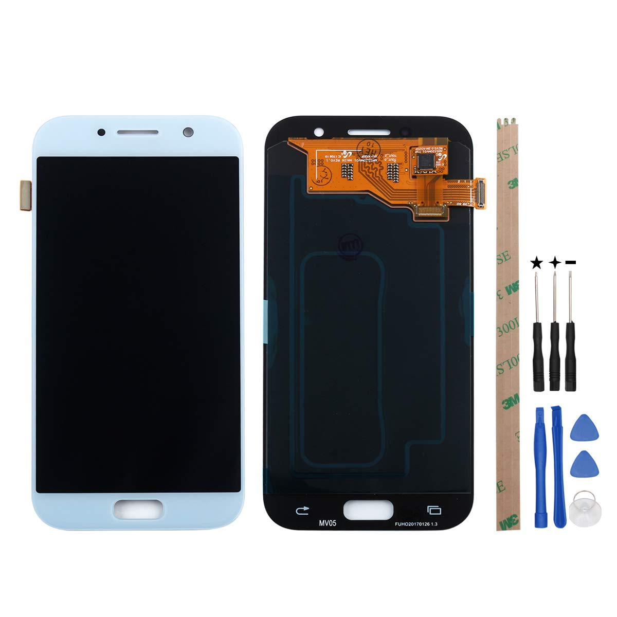 HYYT for Samsung Galaxy A5 A520 A520F 2017 LCD Digitizer Screen Replacement  LCD Display and Touch Screen Assembly (Light Blue)