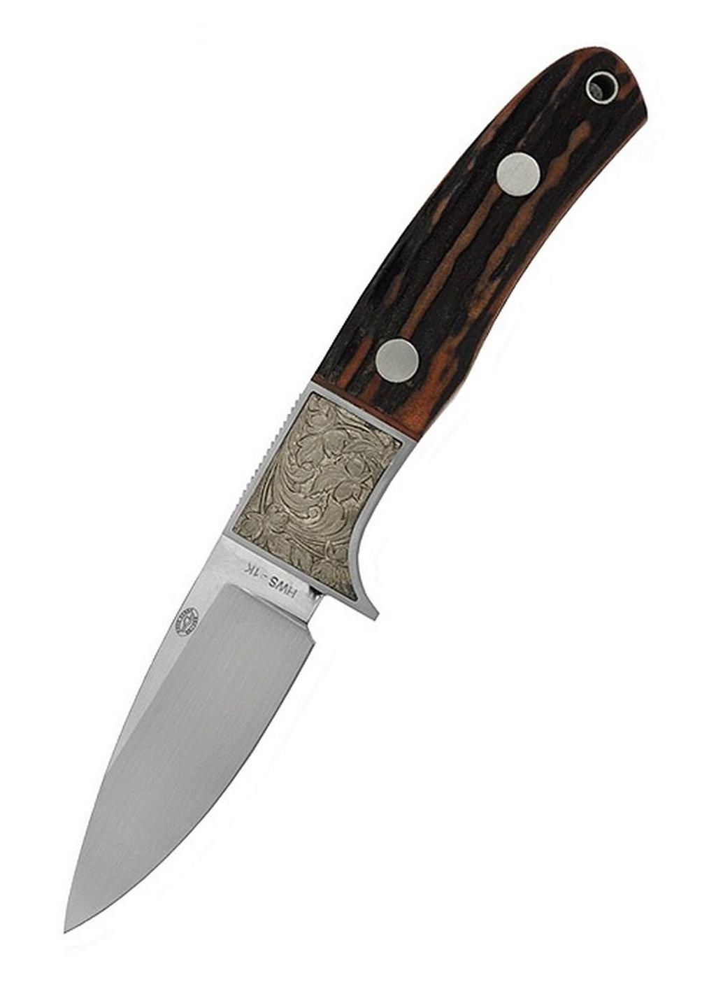 Sika Messer mit Drop-Point-Klinge und Hirschhorngriff Jagdmesser