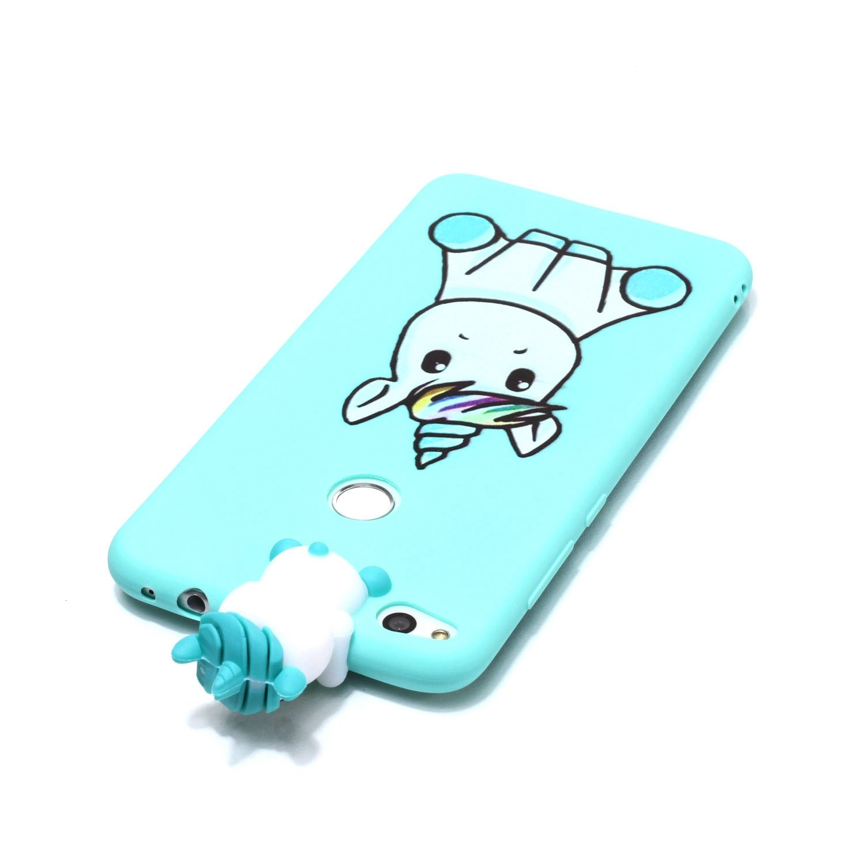 Huawei Honor 8 Lite Cover Chouette paresseuse Graphiques et Jouets TPU Housse Etui Rouge Case Gel Silicone Protection Cover JIENI Coque pour Huawei P8 Lite 2017