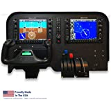 Flight Velocity G1000 Cockpit Panel Compatible with Saitek/Logitech G Flight Sim Hardware