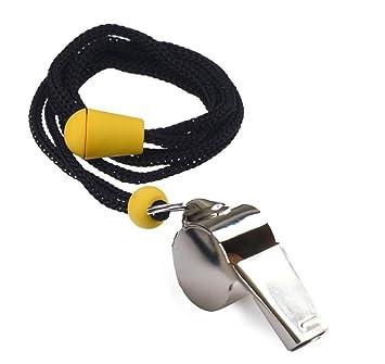 Giveet Metal silbato con cordón, acero inoxidable y duradero ...