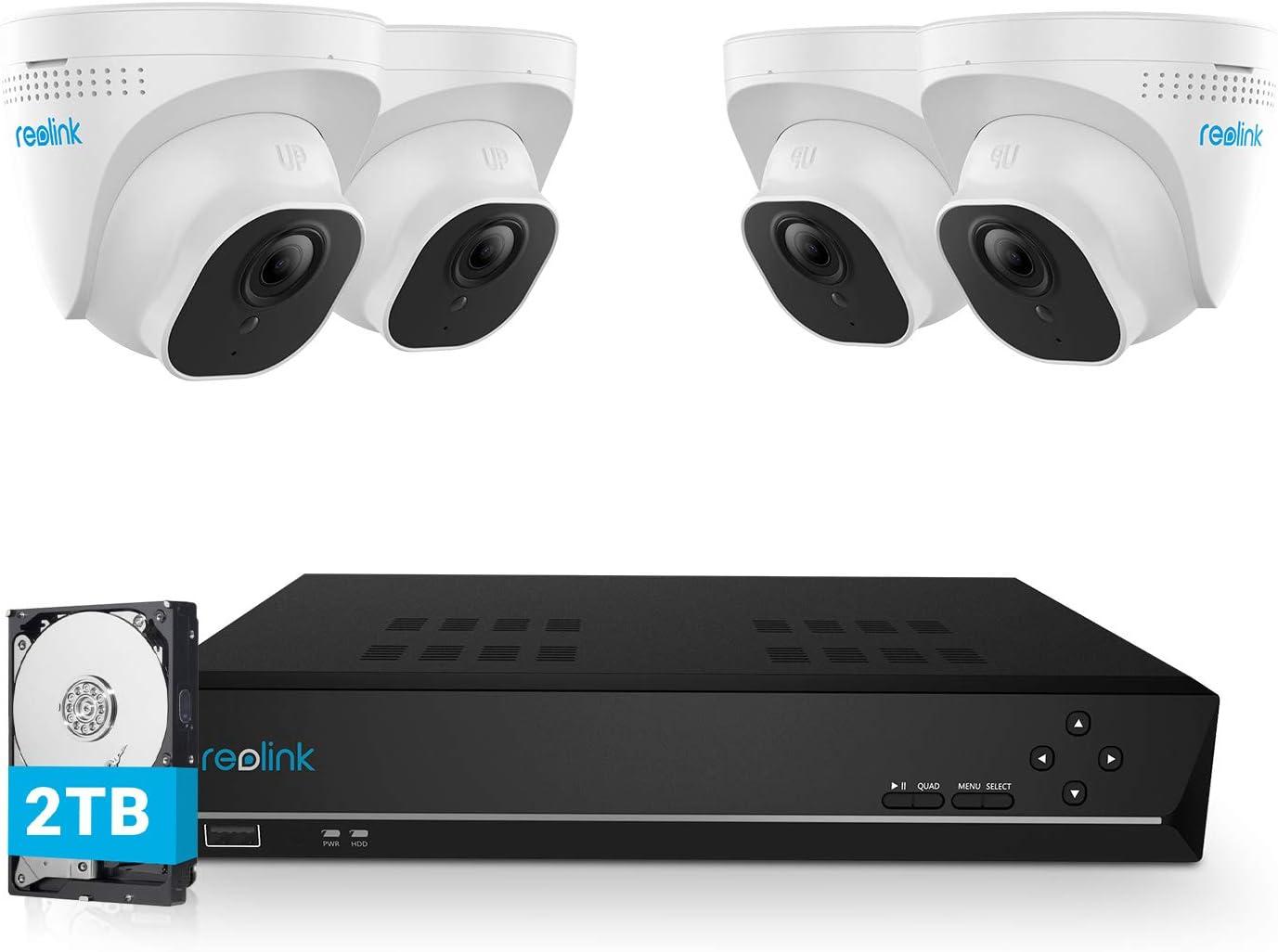 Reolink Kit Caméra Surveillance PoE avec 8CH NVR 2TB Disque Dur avec...