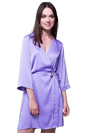 85b4034035abf Bunny Street Premium Quality Satin Robe - Lilac