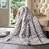 Member's Mark HOTEL PREMIER LUXURY THROW CREAM FAIR ISLE
