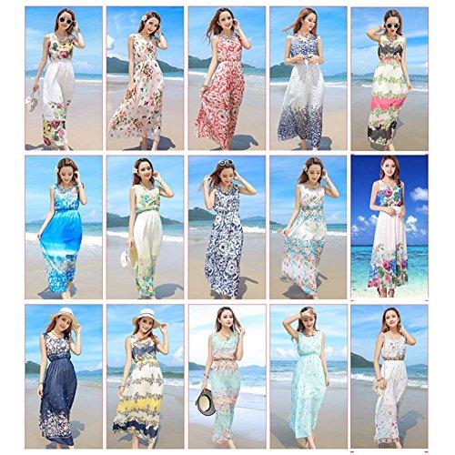 Moda Spiaggia La Estate 03 Vestito Da Della Del Floreale Boemia Dalla Per Stile Vacanze Maxi Vestito Di dpSpPrnqfx
