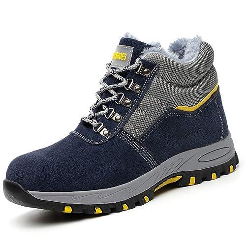 Zapatillas de Seguridad Invierno Hombre Mujer Zapatos de Trabajo con Puntera de Acero Calientes Botines: Amazon.es: Zapatos y complementos