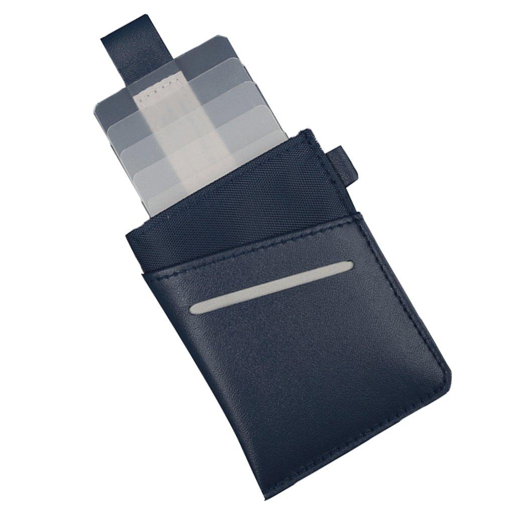 MagiDeal Universal Porte Carte de Credit Portefeuille Fin d\'Identite ID Permi De Conduire Organizer - Bleu 0755007810183FRA