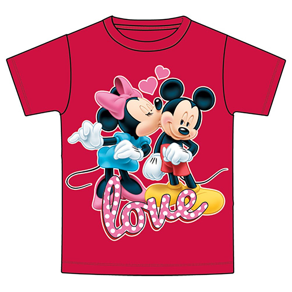 Disney Mickey & Minnie Mouse 'Love' Girls T Shirt - Red 2T 732409633892