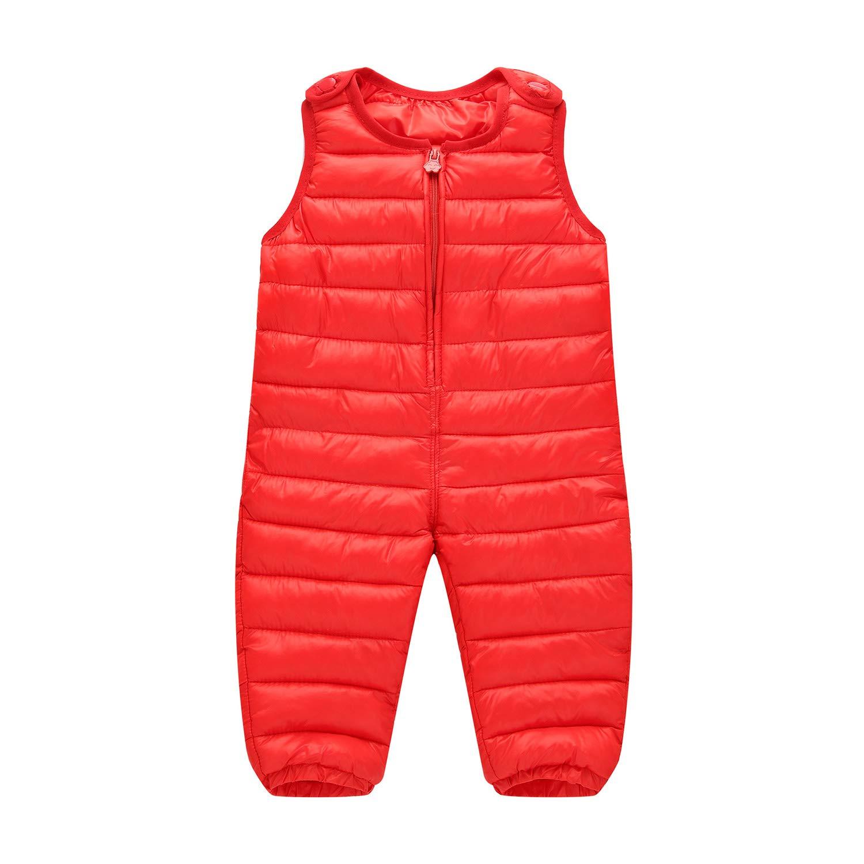 TAIYCYXGAN Baby Little Boys Girls Snow Bib Overalls Pants Unisex Kids Zip Up Snowsuit Lightweight Outwear Outfit