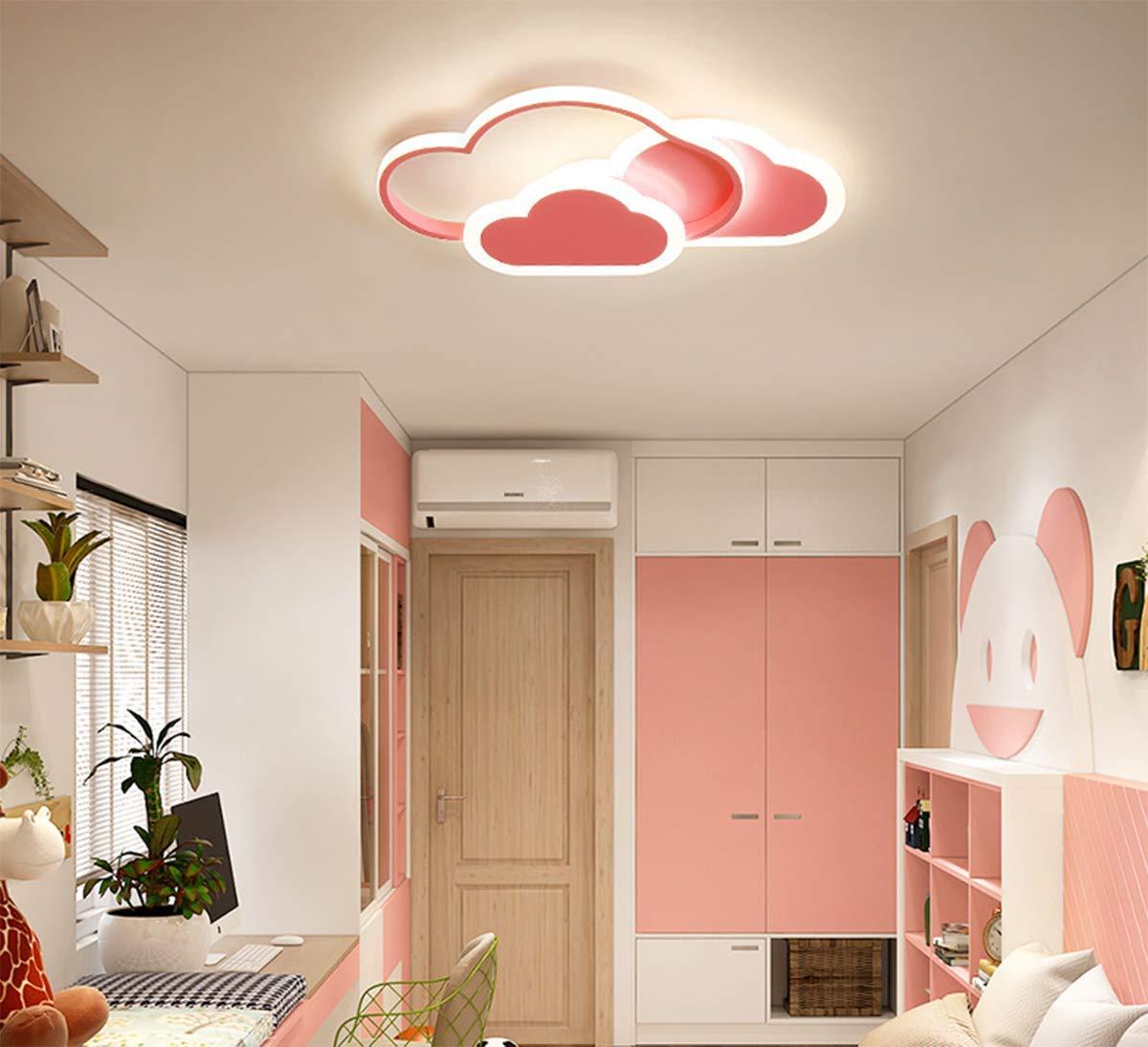 L/ámpara de techo LED en forma de nube L/ámpara de habitaci/ón para chicas L/ámpara muy popular entre los ni/ños L/ámpara de dormitorio 42 * 25CM 32W Luz blanca, Blanco
