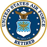 1-Pc Illustrious Fashionable United States Air Force Retired Sticker Sign Police Decal Military Size 12