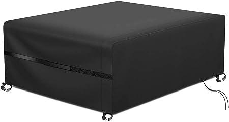 Oferta amazon: RATEL Protectora para Muebles de jardín, Funda para Muebles de Jardín Impermeable a Prueba de Viento Paño Oxford 420D Cubierta de Mesa de jardín Grandes(200x160x70cm)