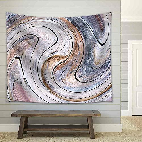 Abstract Circles Art Background (Swirl Pattern) Fabric Wall