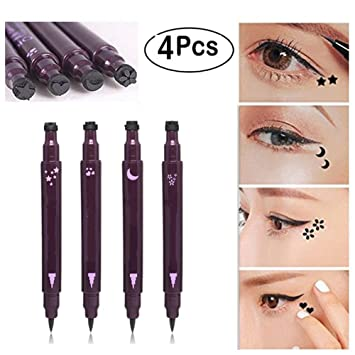 Xiton 4pcs/Set doble cabeza Delineador de ojos tatuaje Eyeliner ...